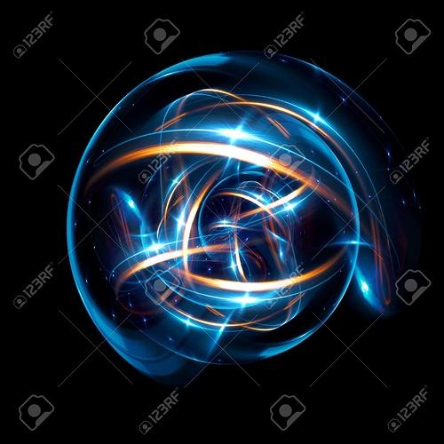 88149244-3d-atom-symbol-leuchtendes-kernmodell-auf-dunklem-hintergrund-glühende-energiebälle-molekülstruktur-spuren-von-a