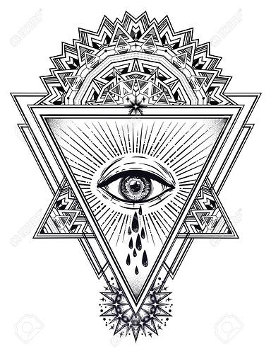97559336-dreieckskomposition-mit-weinenden-tränen-des-heiligen-auges-vektor-illustration