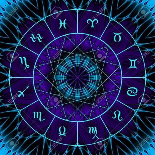 84773332-小型ボートで魔方陣は抽象的な神秘的な背景にサインオンします%u3002