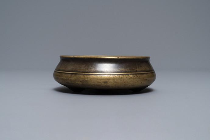 a-flat-chinese-bronze-tripod-censer-xuande-mark-18th-c-1