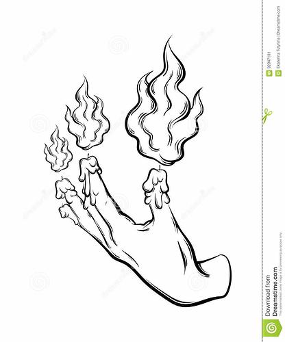 vector-hand-drawn-illustration-human-hand-fire-melting-fingers-tattoo-artwork-template-card-poster-banner-print-92947181