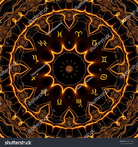 stock-photo-magic-circle-with-zodiacs-sign-on-abstract-mystic-background-678655279