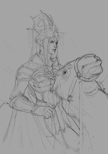 king paimon sketch