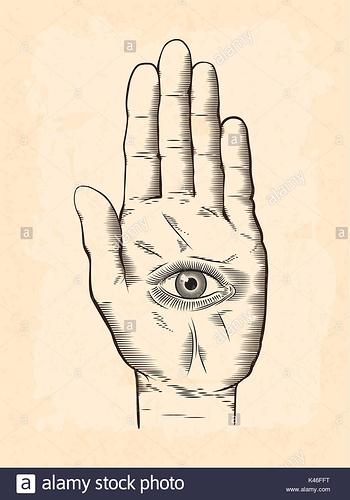 vector-illustration-von-mystic-hamsa-allsehende-auge-in-der-hand-symbol-vintage-graviert-stil-zeichnung-mit-grunge-textur-overlay-k46fft