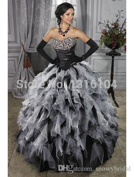 medieval-white-and-black-gothic-wedding-dresses