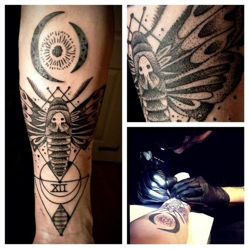 moth-grey-ink-geometric-tattoo