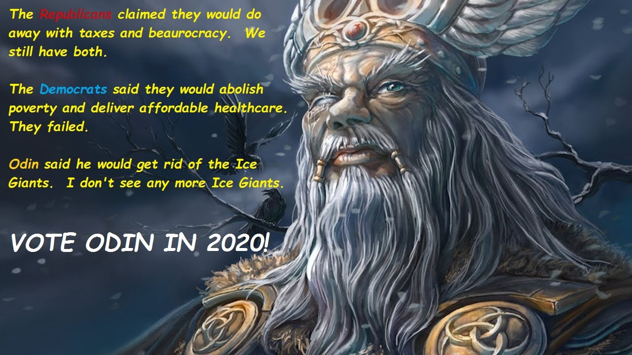 Vote Odin Memes Ice Giants Wwwtollebildcom