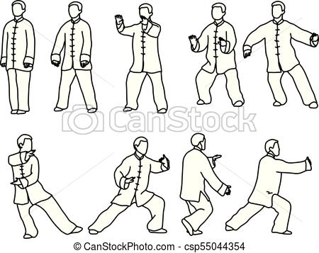 nine-forms-of-tai-chi-men-wear-clipart-vector_csp55044354