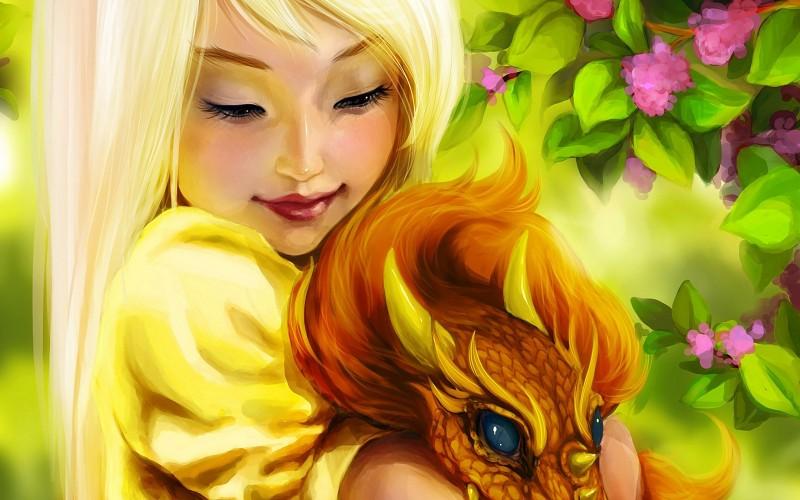 cute-girl-hugging-a-dragon-pics-328218