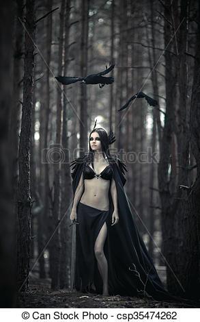 legend-of-goddess-morrigan-stock-image_csp35474262
