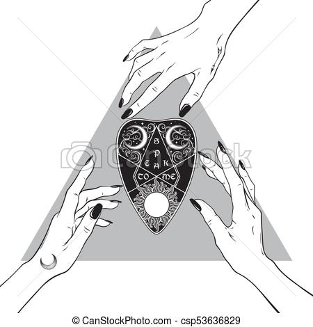 hands-of-witches-reaching-out-to-the-illustration_csp53636829