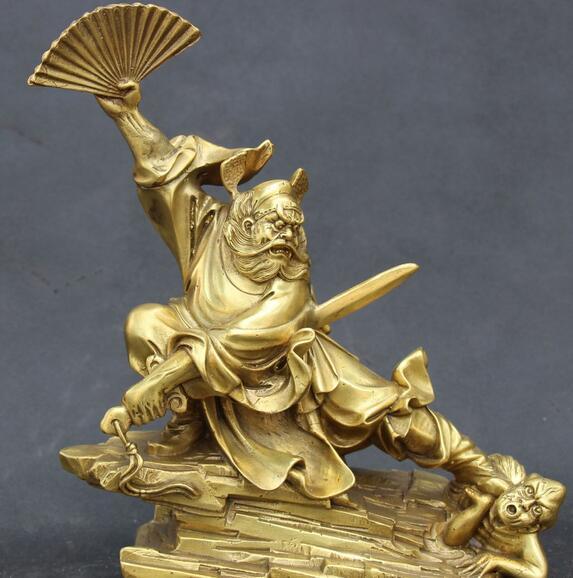 WBY-512-10-Chinese-Feng-Shui-Bronze-Taoism-Tianshic-Zhong-Kui-ZhongKui-Ghost-Statue