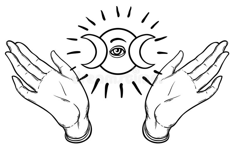 female-hands-open-around-masonic-symbol-new-world-order-hand-d-drawn-alchemy-religion-spirituality-occultism-black-white-93031576