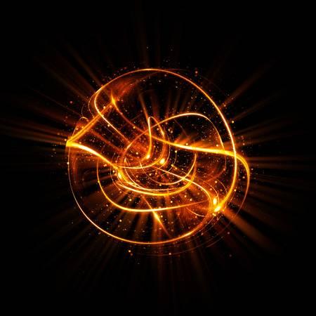 88149228-3d-atom-symbol-leuchtendes-kernmodell-auf-dunklem-hintergrund-glühende-energiekugeln-molekülstruktur-spuren-vo
